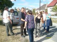 A kisbéri állomásra Barta Zsolt református lelkész jött elénk